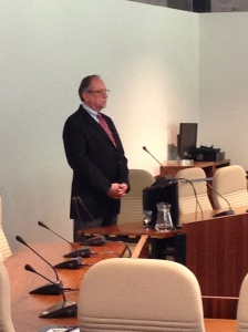 Jerry Nagel, PhD, during his dissertation defence.