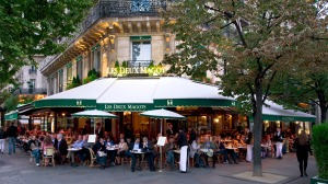 Les Deux Magots - a favourite eating and people watching place.